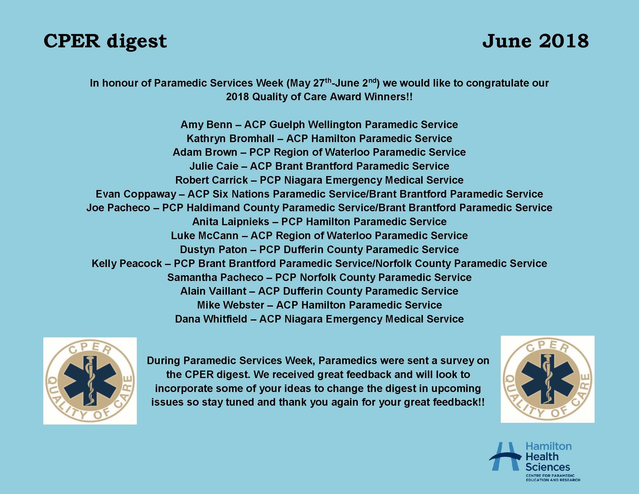 CPER digest June 2018