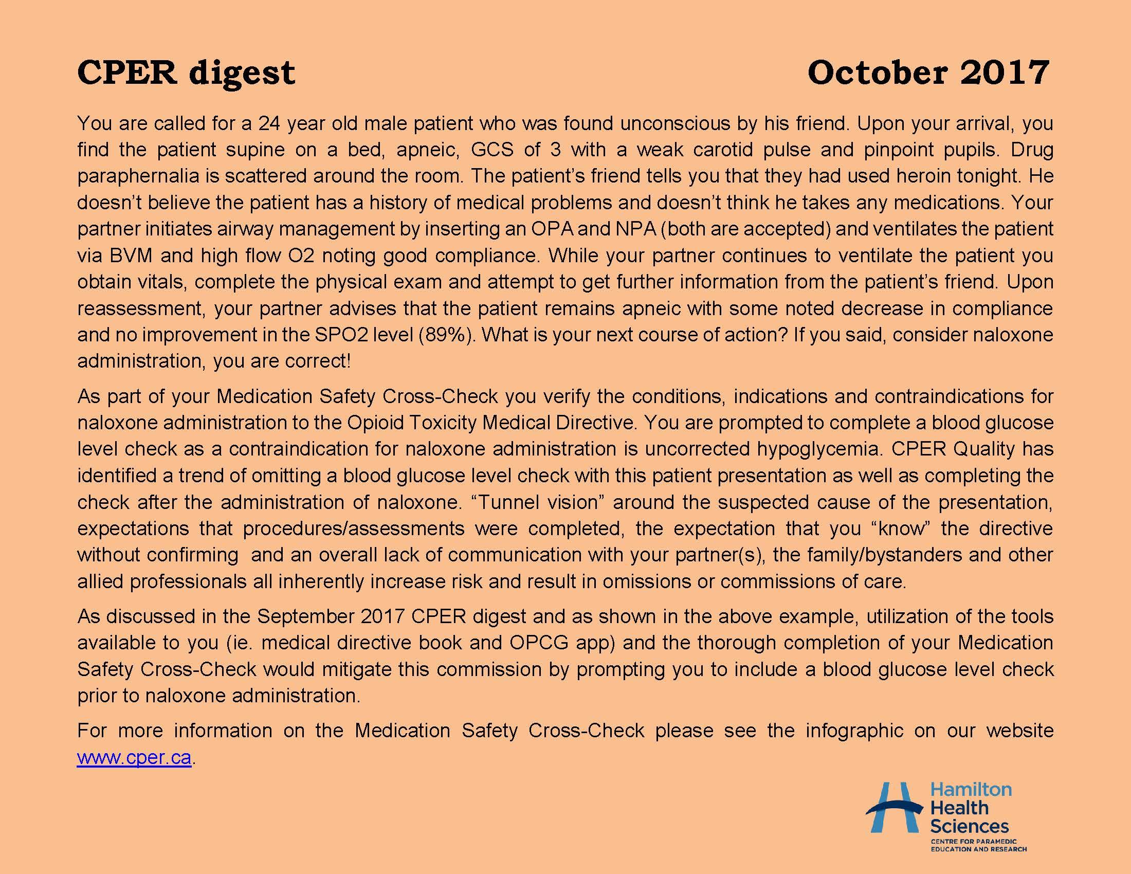 CPER digest October 2017