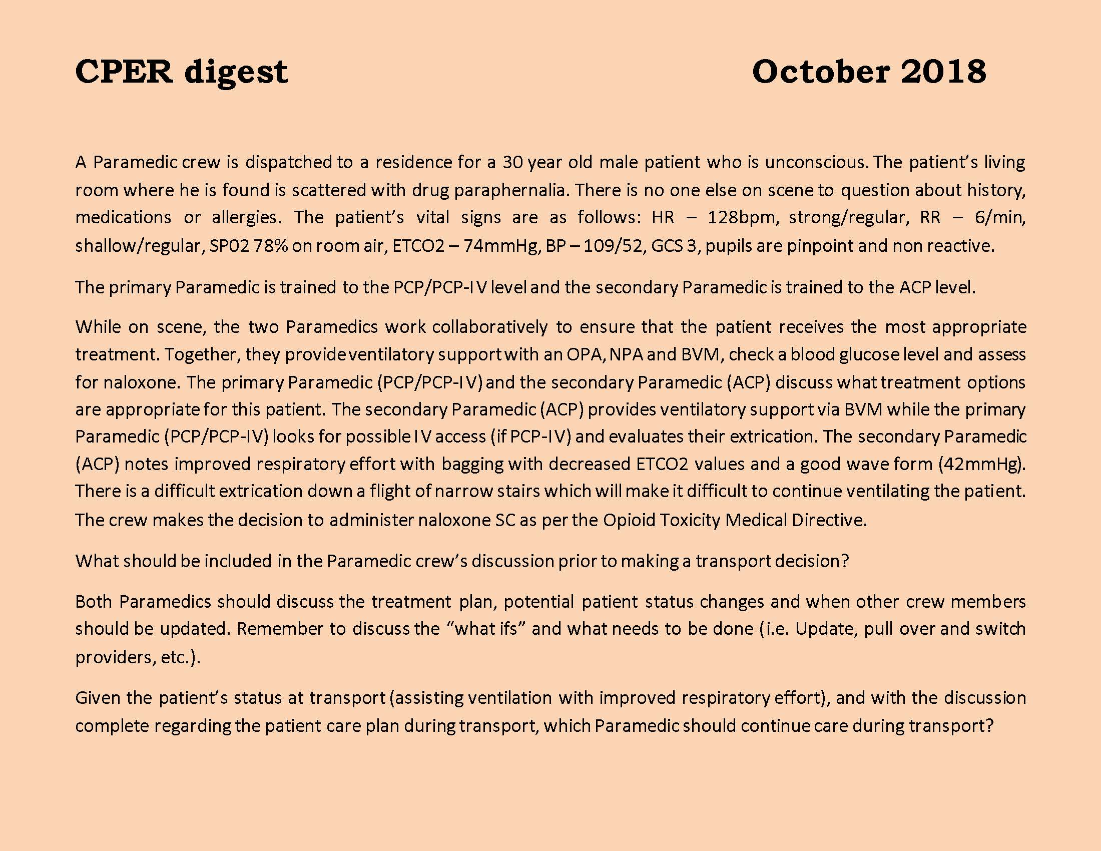 CPER digest October 2018 Page 1